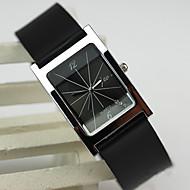 Dames Modieus horloge Kwarts PU Band Zwart Merk-