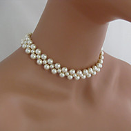 Fashion Simple Hand-Beaded Pearl Necklace
