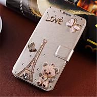 Noua moda floare 3d bling diamant clapa de acoperire PU piele caz toc pentru Samsung Galaxy a5 (Color asortate)