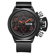 megir®brand mäns populära klockor går kronograf sport watch män garanterat militära klocka silikon armbandsur mode