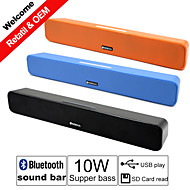 G-808 10W Bluetooth Power Sound Bar Speakers 2.0 Channel Bass Stereo for AUX USB MicroSD iPhone Samsung