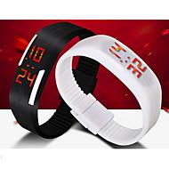 Unisex LED Digital Candy Color Silicone Strap Bracelet Sports Wristwatch