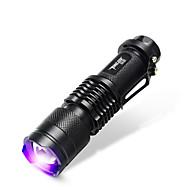TanLu Torce LED / Torce LED 20 Lumens 1 Modo LED 14500Messa a fuoco regolabile / Ricaricabile / Luce a raggi ultravioletti / Verificatore