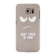 For Samsung Galaxy etui Etuier Transparent Bagcover Etui Ord / sætning PC for Samsung S6 edge S6