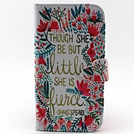 Flower Pattern PU Leather Case with Card Slot and Stand for Samsung Galaxy S4 mini/S3mini/S5mini/S3/S4/S5/S6/S6edge