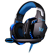 KOTION EACH G2000 Over-ear Game Headset Earphone Headband w/ Mic Stereo Bass LED Light for PC - Two color optional