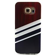 Mert Samsung Galaxy tok Minta Case Hátlap Case Vonalak / hullámok TPU Samsung S6 edge / S6 / S5 Mini / S5 / S4 Mini / S4 / S3 Mini / S3