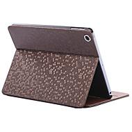 fällbara romb pu läderfodral med ställ för iPad Mini 1/2/3 (blandade färger)