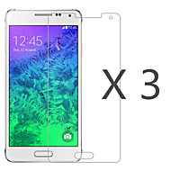 (3 Pcs) High Definition Screen Protector with Cleaning Microfiber Cloth for Samsung Galaxy Alpha G850 G8508 G8509