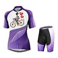 Arsuxeo Wielrennen Pakken/Kledingsets Dames Fietsen Ademend / Sneldrogend / Anatomisch ontwerp / YKK Rits / Achterzak Korte Mouw Rekbaar