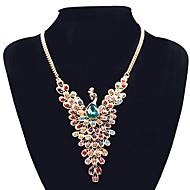 Žene Ogrlice s privjeskom Izjava Ogrlice Paun Umjetno drago kamenje Legura Nakit sa stilom Europska kostim nakit Jewelry Za