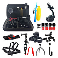 16-in-1 Accessories Kit with Carrying Case for GoPro HERO4 HERO3+ GoPro HERO3 GoPro HERO2 Action Cameras