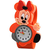 Children's Cute Cartoon Silicone Miffy Pattern   Lovely Digital Quartz Slap Watch Cool Watches Unique Watches Fashion Watch