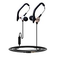 HUAST Stereo Earphones In-Ear Metal Headphones with EarHook for iPhone 6 / 6 Plus / iPod / iPad Air / Samsung Huawei