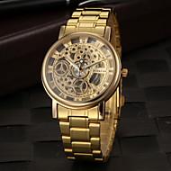 Men's Dress Watch Elegant Hollow Design Quartz Gold Steel Strap Wrist Watch Cool Watch Unique Watch Fashion Watch