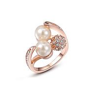 Duże pierścionki Pozłacane Stop Kamienie zodiakalne Modny Golden Biżuteria Ślub Impreza Codzienny Casual 1szt