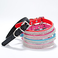 Adjustable PU Leather Diamond Collar for Pets Dogs/Cats(Assoted Colors,Sizes)