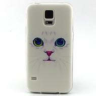 Mert Samsung Galaxy tok Minta Case Hátlap Case Cica TPU Samsung S5 Mini