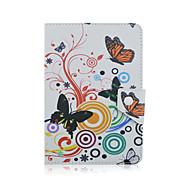 Szkinston vlinder case cover schokbestendig met staand slaap magnetisch patroon full body pu leer voor alle 9,5 - 10,5 inch mobiele