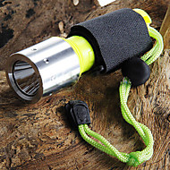 LED Flashlights / أضواء فلاش يدوية LED 3 طريقة 1600 شمعة Cree XM-L T6 18650Camping/Hiking/Caving / Everyday Use / Diving/Boating / أخضر /
