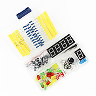 universell DIY komponenter kit satt for Arduino - svart + blå + flerfarget