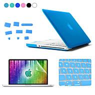 Enkay 4 en 1 mate funda protectora dura + screen + tapones película Teclado + anti-polvo para MacBook Pro de 15,4 pulgadas