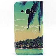 Για Samsung Galaxy Θήκη Θήκη καρτών / Πορτοφόλι / με βάση στήριξης / Ανοιγόμενη tok Πλήρης κάλυψη tok Δέντρο Συνθετικό δέρμα SamsungCore