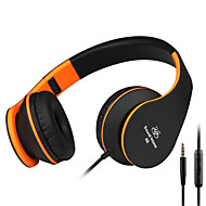 i68 intone som 3,5 milímetros dobrável leve, mais estéreo fones de ouvido fones de ouvido estiramento portáteis almofada de orelha de