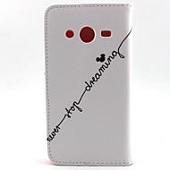 Mert Samsung Galaxy tok Pénztárca / Kártyatartó / Állvánnyal / Flip Case Teljes védelem Case Szó / bölcselet Műbőr SamsungCore Prime /