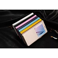 2015newest výklopný kryt okno kožené pouzdro móda pu mobilní telefon shell pro Samsung s6 hraně a navíc různých barvách