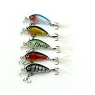 "5pcs pcs Manivela / Cebos Manivela Colores Surtidos 4g g/16 Onza mm/1-3/4"" pulgada,Plástico duroPesca de Mar / Pesca de agua dulce /"