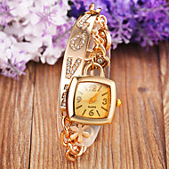 Women's Rectangular dial 100% Stainless Steel Luxury Fashion Lady Bracklet Dress Wristwatch (Assorted  Color)C&D-137