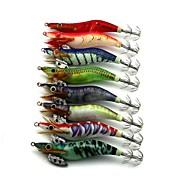 8pcs pcs Señuelos duros / Cebos Señuelos duros / Cangrejos / Camarón Azul Oscuro / Verde / Naranja / Gris / Rojo / Colores Surtidos / Azul