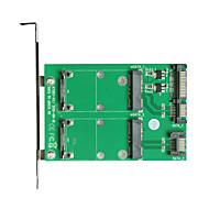 maiwo 2xSATA para 2xmsata placa de interface de cartão kt007a