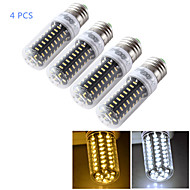 YouOKLight® 4PCS E14/E27 7W 650lm CRI>80 3000K/6000K 72*SMD4014 LED Light Corn Bulb (110-120V/220-240V)