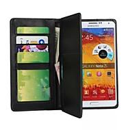 Pour Samsung Galaxy Note Portefeuille Coque Coque Intégrale Coque Couleur Pleine Cuir PU pour Samsung Note 3