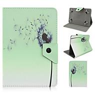 7インチユニバーサルタブレット用スタンドケース付き花柄高品質PUレザー