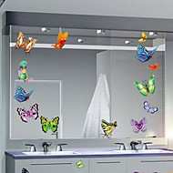 Multifunction Butterfly Shape PVC Decorative Stickers(9PCS/Set)(Random Color)
