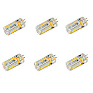 6 pcs G4 7 W 72 SMD 3014 650 LM Warm White/Cool White High Bright Corn Bulbs AC/DC 12-24V