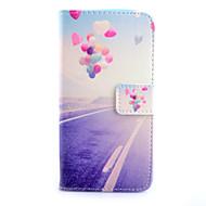 For Samsung Galaxy etui Kortholder Pung Med stativ Flip Etui Heldækkende Etui Ballon Kunstlæder for SamsungS6 edge S6 S5 S4 Mini S4 S3