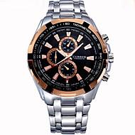 CURREN 男性 軍用腕時計 リストウォッチ スポーツウォッチ クォーツ ステンレス バンド ラグジュアリー ブラック シルバー