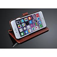 höjd kvalitet plånbok stå flip läderfodral för iPhone 6 plus