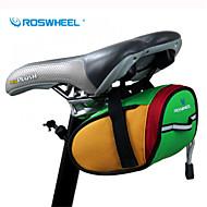 ROSWHEEL® 自転車用バッグ 0.8L自転車用サドルバッグ 防水 / 防水ファスナー / 耐衝撃性 / 耐久性 自転車用バッグ 600Dポリエステル サイクリングバッグ キャンピング&ハイキング / サイクリング 15*7*7.5