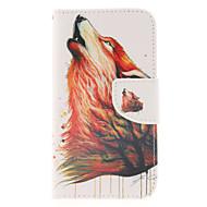 Para Samsung Galaxy Capinhas Carteira / Porta-Cartão / Com Suporte / Flip Capinha Corpo Inteiro Capinha Animal Couro PU Samsung S5 Mini
