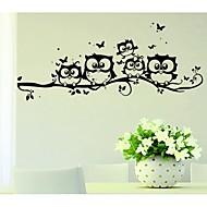 coruja dos desenhos animados cinco criativo adesivos de parede
