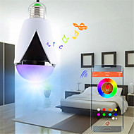 E27 5 W 600 LM Color-Changing B Bluetooth / Dimmable / Remote-Controlled / Sensor LED Stage Lights AC 85-265
