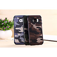 For Samsung Galaxy etui Stødsikker Etui Bagcover Etui Camouflage PC for Samsung S6 edge plus S6 edge S6 S5