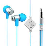 WHF-116 3,5 mm støjreducerende mike i øret øretelefon til iPhone og andre telefoner (assorterede farver)