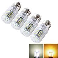 Ampoule Maïs Décorative Blanc Chaud / Blanc Froid YouOKLight 4 pièces T E14 / E26/E27 7 W 48 SMD 2835 600 LM AC 85-265 / 9-30 V