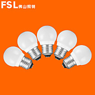 5pcs FSL® E27 3W 3000K-6500K Warm/Cool Light LED Globe Bulbs 220v